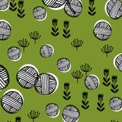 Yarn Balls - Moss Green by Andrea Lauren