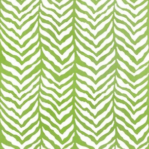 Herringbone bone tweed grass green watercolor
