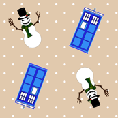 Doctor Snowmen Police Box Off White