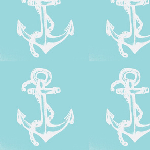 white anchor sea blue