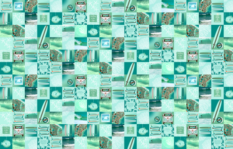 The Best Surf Themed Quilt Ever FAT QUARTER fabric by honoluludesign on Spoonflower - custom fabric