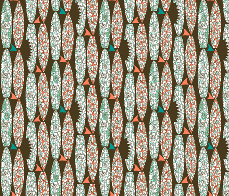 Fins & Boards fabric by arttreedesigns on Spoonflower - custom fabric