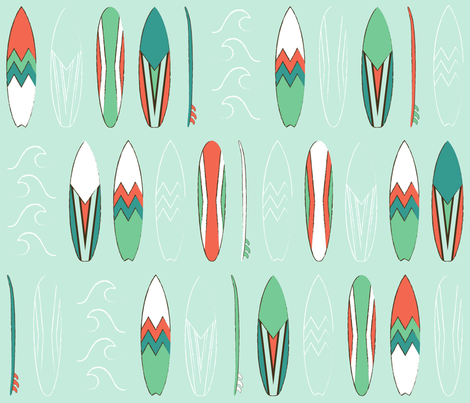 surf fabric by maziza on Spoonflower - custom fabric