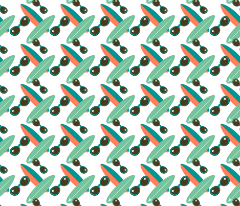 Sunglasses and Surfboards fabric by anderson_designs on Spoonflower - custom fabric