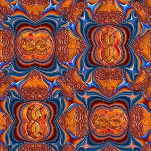 Lava in Blue and Orange