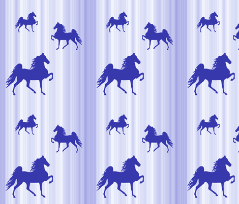 Horses-blue_stripe fabric by mammajamma on Spoonflower - custom fabric