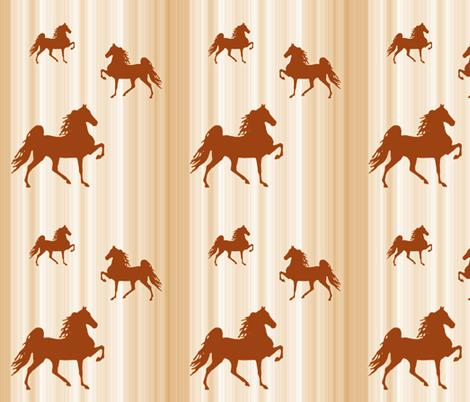 Horses-golden_stripe fabric by mammajamma on Spoonflower - custom fabric