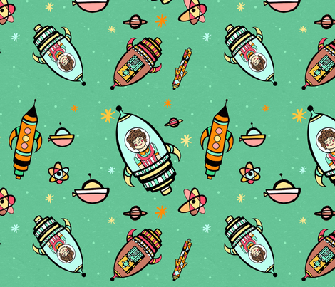 A Cosmic Adventure fabric by kirstyellenmottram on Spoonflower - custom fabric