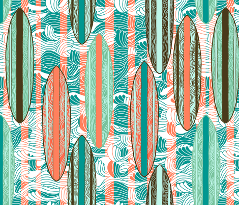 Surfer Stripe fabric by rubydoor on Spoonflower - custom fabric