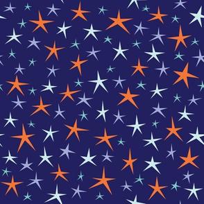 Stellar Stars on Dark Blue