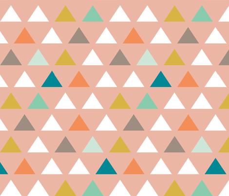Mod Wedding Triangles fabric by mrshervi on Spoonflower - custom fabric