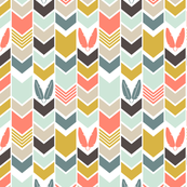 Coral Cowboys Indians Chevron
