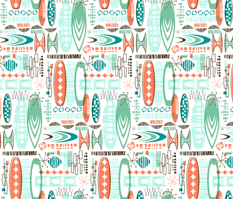 Surf City fabric by rightbrainjane on Spoonflower - custom fabric