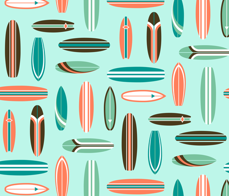 Vintage Surfboards fabric by daniellebartel on Spoonflower - custom fabric
