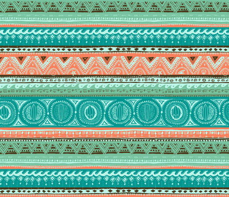 Stripy surfie pattern fabric by oohoo on Spoonflower - custom fabric