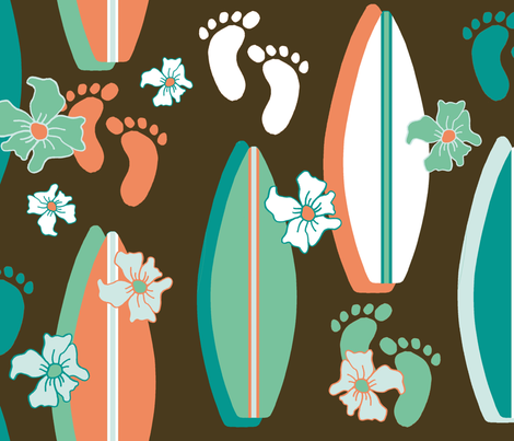 Missing the beach fabric by joojoostrees on Spoonflower - custom fabric