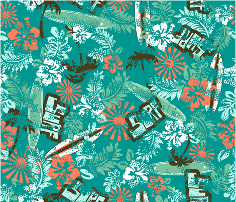 RETRO_SURF fabric by kindredjenni on Spoonflower - custom fabric