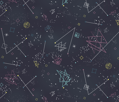 Intergalactica fabric by jenflorentine on Spoonflower - custom fabric
