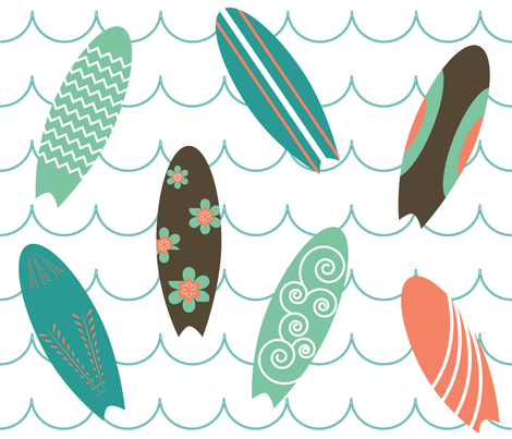 surfer_girl fabric by erijoyjoy on Spoonflower - custom fabric
