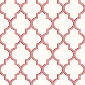 Dimensional Quatrefoil in Muted Rose Small