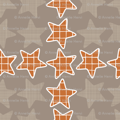 Plaid Checker Stars