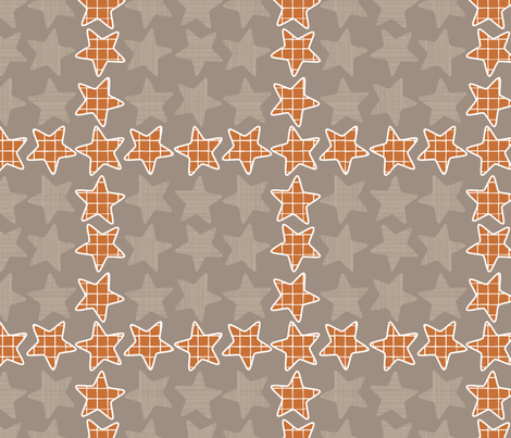 Plaid Checker Stars fabric by mrshervi on Spoonflower - custom fabric