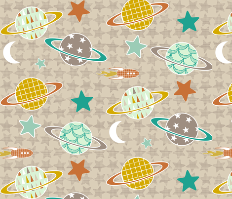 Mod Space fabric by mrshervi on Spoonflower - custom fabric