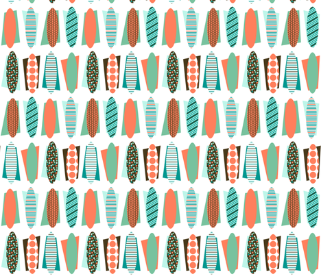 Towel surfing fabric by su_g on Spoonflower - custom fabric