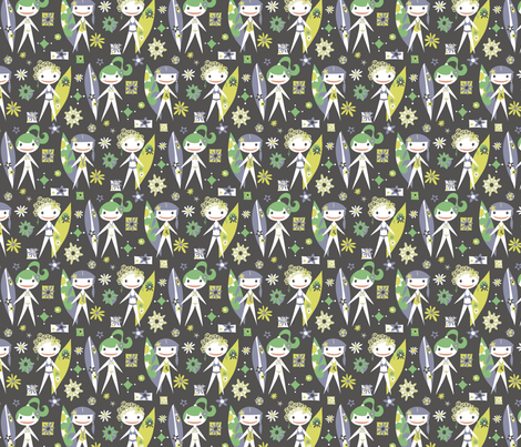 Surfer Girls Forever fabric by mktextile on Spoonflower - custom fabric