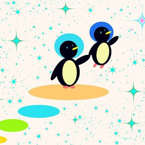 Retro Space Penguins