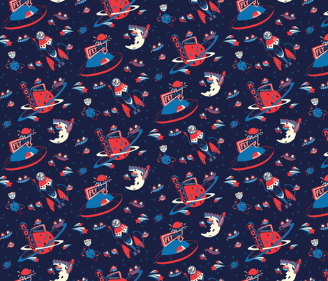 The Hitchhikers Galaxy fabric by rachelmense on Spoonflower - custom fabric