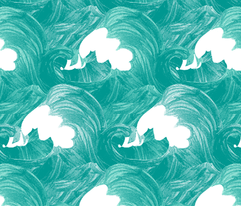 The Perfect Wave fabric by pond_ripple on Spoonflower - custom fabric
