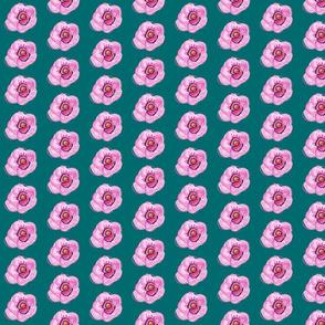 Feminine Flower-teal