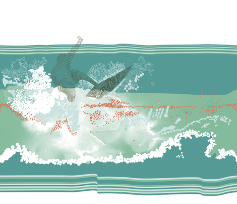 Now_surf fabric by owlsquirrel&twobirds on Spoonflower - custom fabric