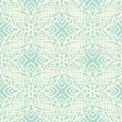 Aqua blue button flowers