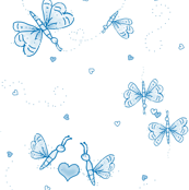Butterfly Love - blue
