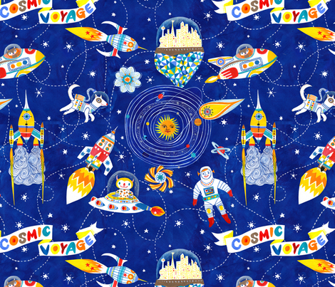 cosmic voyage fabric by hui_yuan_chang on Spoonflower - custom fabric