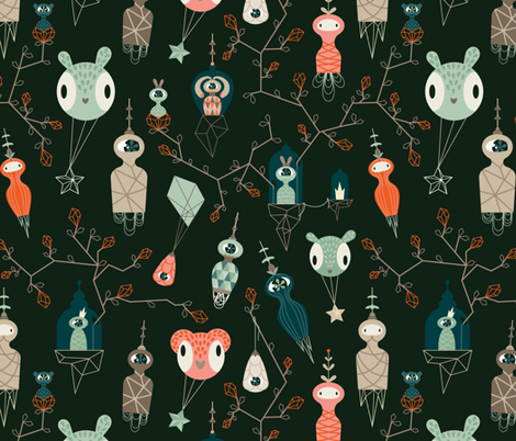 Beyond the stars fabric by antonija_m on Spoonflower - custom fabric