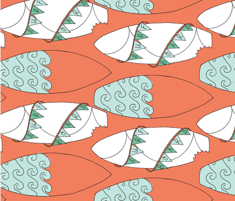 Surfboards_ fabric by cbronsky on Spoonflower - custom fabric