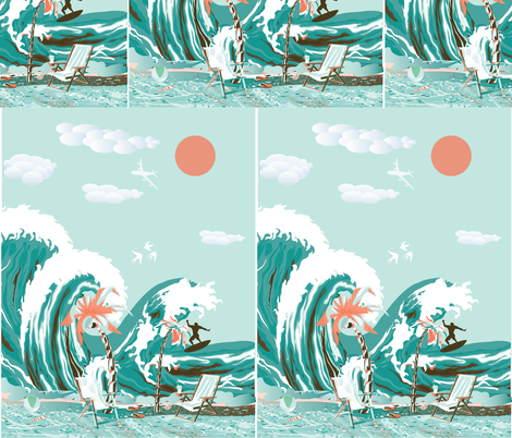 Summer Surfing fabric by rcm-designs on Spoonflower - custom fabric