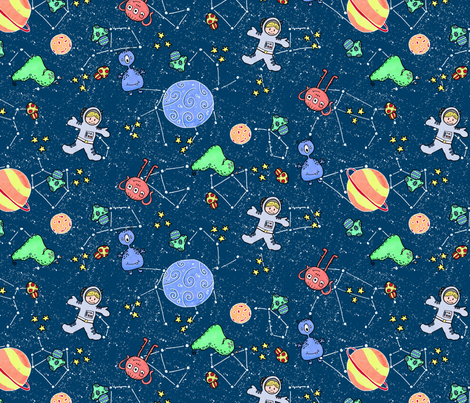 Emme Ross Cosmic Voyage fabric by emme_ross on Spoonflower - custom fabric
