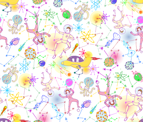 cosmic voyage fabric by misslin on Spoonflower - custom fabric
