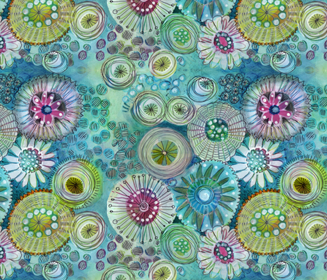 Under the Sea fabric by snowflower on Spoonflower - custom fabric