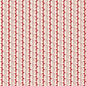 Antique Red on White Stripes