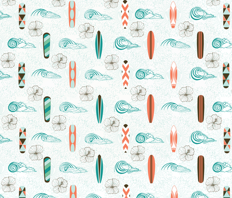Surfing Dreams fabric by missy_warp on Spoonflower - custom fabric
