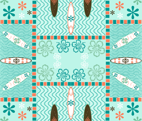 Surf Board Stage fabric by texas_soul on Spoonflower - custom fabric