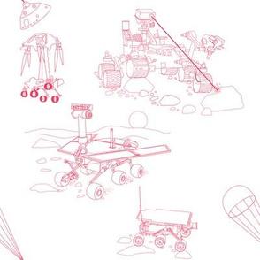 Mars Rover Toile de jouy
