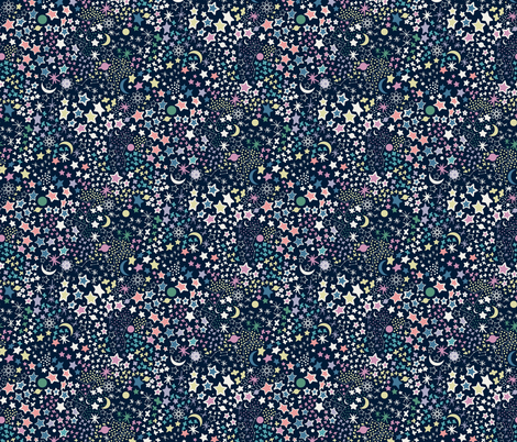 Là-haut !  fabric by demigoutte on Spoonflower - custom fabric