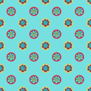Colorful flower dots