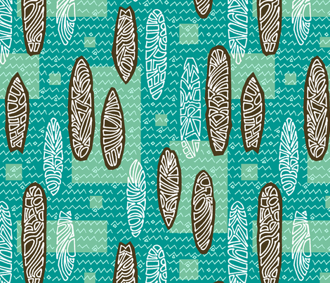 Waikiki Quiver fabric by binkta on Spoonflower - custom fabric